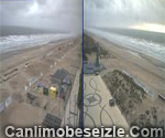 De Panne Sea promenade live webcam Belgium