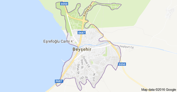 Konya Beyşehir Uydu Görüntüsü ve Haritası