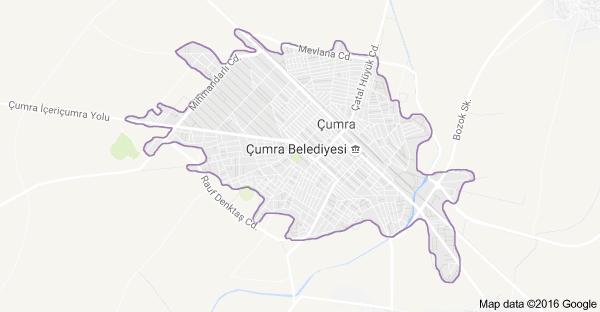 Konya Çumra Uydu Görüntüsü ve Haritası