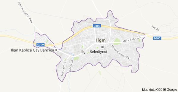 Konya Ilgın Uydu Görüntüsü ve Haritası