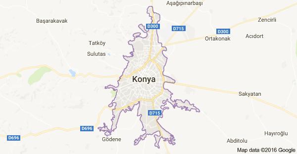 Konya Uydu Görüntüsü Konya Haritası