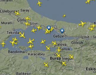 Atatürk Havalimanı Canlı Uçuş Takibi