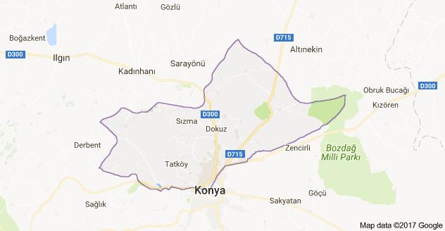 Konya Selçuklu Uydu Görüntüsü ve Haritası