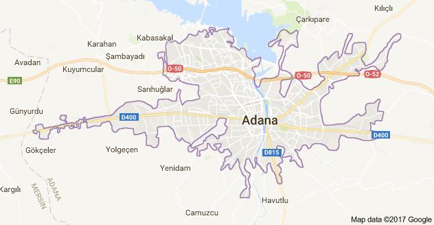 Adana Uydu Görüntüsü ve Haritası