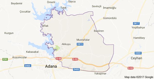 Adana Sarıçam Uydu Görüntüsü