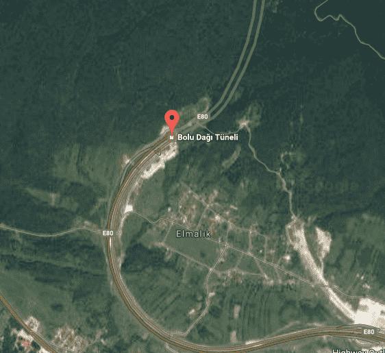 Bolu Dağı Uydu Görüntüsü ve Haritası
