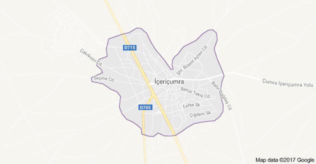 İçeriçumra Uydu Görüntüsü, Harita