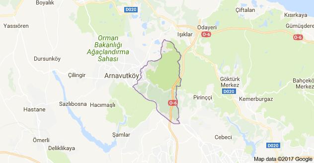 İstiklal Mahallesi Uydu Görüntüsü ve Haritası Arnavutköy