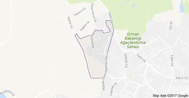 Adnan Menderes Mahallesi Uydu Görüntüsü ve Haritası Arnavutköy