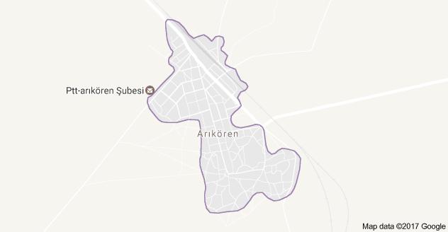 Çumra Arıkören Uydu Görüntüsü ve Harita