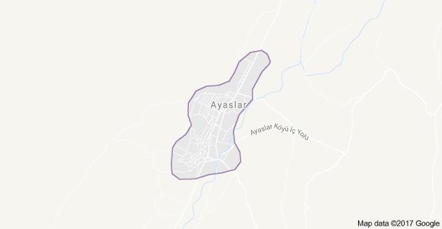 Doğanhisar Ayaslar Uydu Görüntüsü, Harita