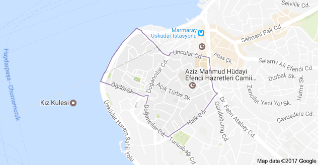 Üsküdar Aziz Mahmud Hüdayi Mahallesi Uydu Görüntüsü ve Haritası