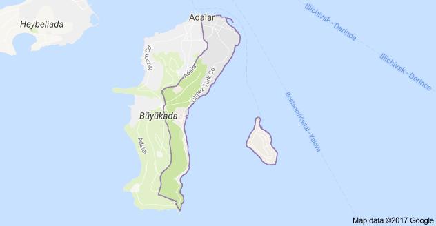 Büyükada-Maden Mahallesi Uydu Görüntüsü ve Haritası Adalar