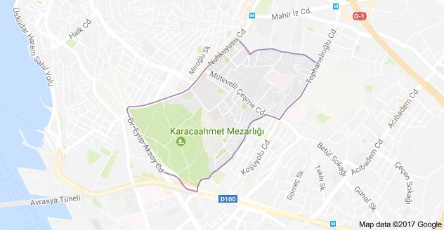 Üsküdar Barbaros Mahallesi Uydu Görüntüsü ve Haritası