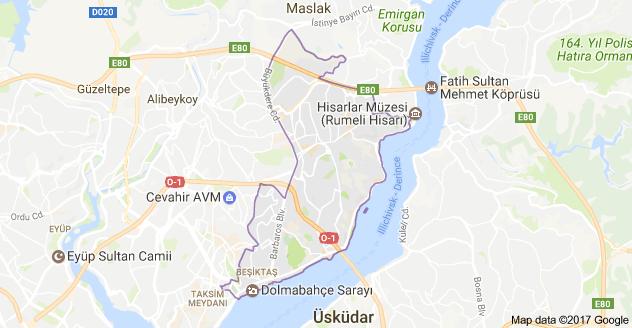 İstanbul Beşiktaş Uydu Görüntüsü