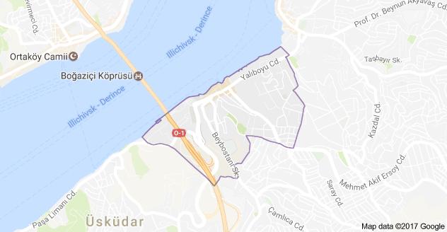 Üsküdar Beylerbeyi Mahallesi Uydu Görüntüsü ve Haritası