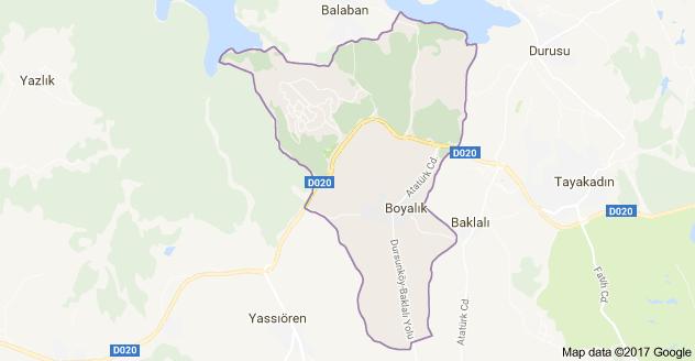 Boyalık Mahallesi Uydu Görüntüsü ve Haritası Arnavutköy