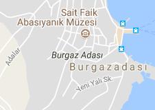Burgaz Adası Uydu Görüntüsü ve Haritası Adalar İstanbul