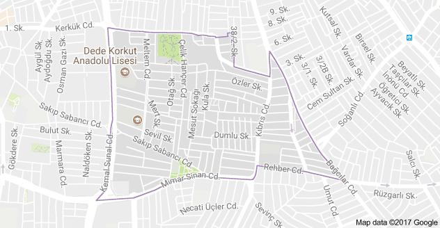 Cumhuriyet Mahallesi Uydu Görüntüsü Haritası Bahçelievler İstanbul