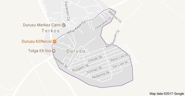 Durusu Mahallesi Uydu Görüntüsü ve Haritası Arnavutköy