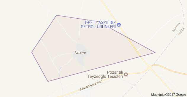 Ereğli Aziziye Uydu Görüntüsü
