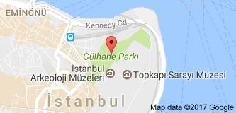 Gülhane Parkı Uydu Görüntüsü, Harita