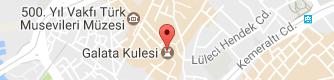 Galata Kulesi Uydu Görüntüsü, Harita