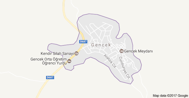 Derebucak Gencek Uydu Görüntüsü, Harita