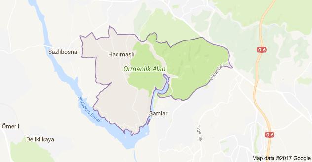 Haraççı Mahallesi Uydu Görüntüsü ve Haritası Arnavutköy