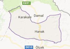 Hanak Uydu Görüntüsü Uydu Haritası Ardahan