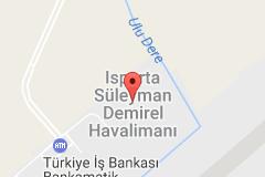 Isparta Süleyman Demirel Havalimanı Uydu Görüntüsü