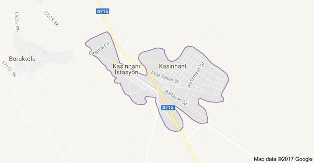 Meram Kaşınhanı Uydu Görüntüsü