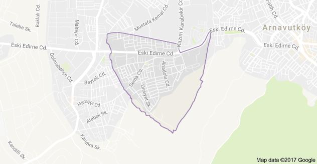 Karlıbayır Mahallesi Uydu Görüntüsü ve Haritası Arnavutköy