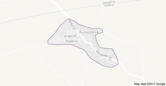 Beyşehir Kurucuova Uydu Görüntüsü