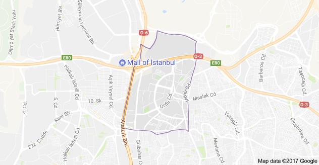 Mahmutbey Mahallesi Uydu Görüntüsü ve Haritası Bağcılar İstanbul