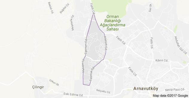Mehmet Akif Ersoy Mahallesi Uydu Görüntüsü ve Haritası Arnavutköy