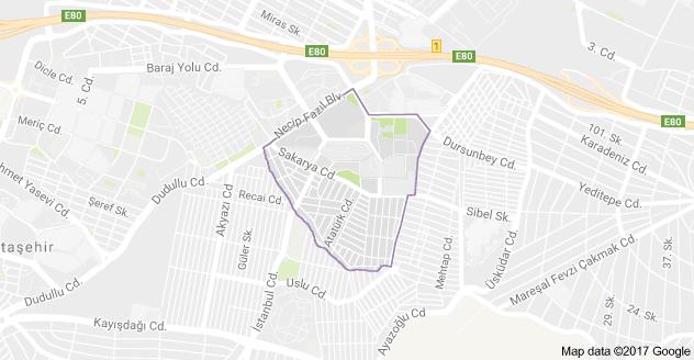 Mevlana Mahallesi Uydu Görüntüsü ve Haritası Ataşehir İstanbul