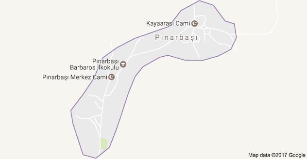 Derebucak Pınarbaşı Uydu Görüntüsü, Harita
