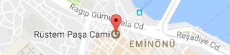 Rüstem Paşa Camii Uydu Görüntüsü, Harita