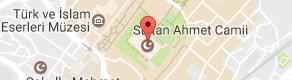 Sultan Ahmet Camii Uydu Görüntüsü, Harita