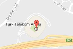Türk Telekom Arena Uydu Görüntüsü, Haritası, Nerede