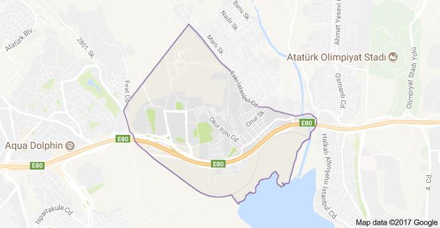 Tahtakale Uydu Görüntüsü ve Haritası Avcılar İstanbul