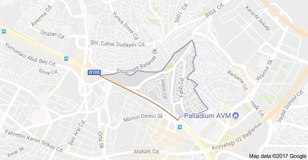 Yeni Sahra Uydu Görüntüsü ve Haritası Ataşehir İstanbul