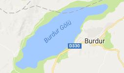 Burdur Gölü Uydu Görüntüsü ve Haritası