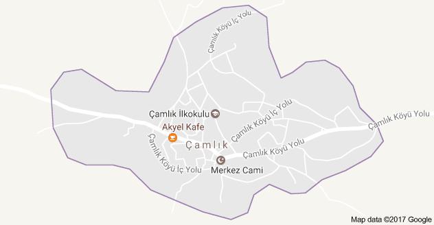 Derebucak Çamlık Uydu Görüntüsü, Harita