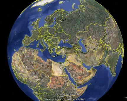 Dünya Haritası ve Uydu Görüntüleri