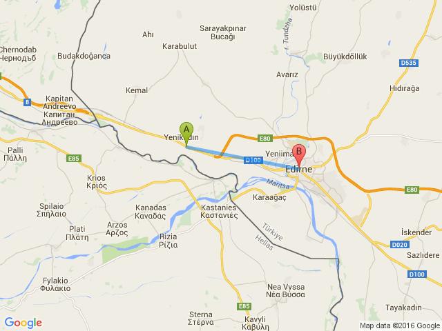 Kapıkule Edirne arası kaç km nasıl gidilir yol güzergahı