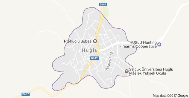 Beyşehir Huğlu Uydu Görüntüsü