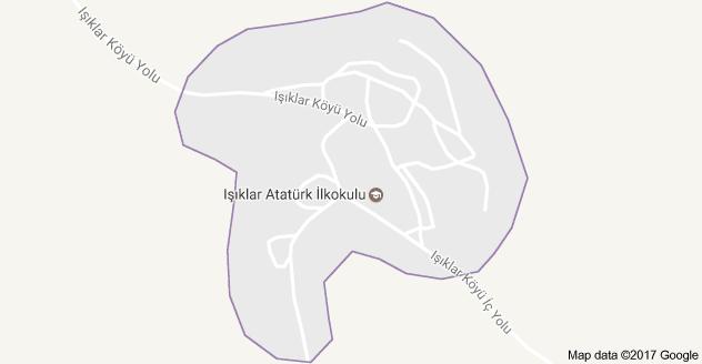 Emirgazi Işıklar Uydu Görüntüsü, Harita