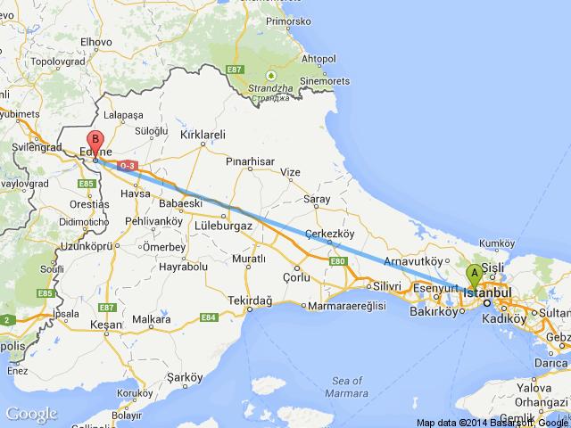 Kapıkule İstanbul arası kaç km nasıl gidilir yol güzergahı